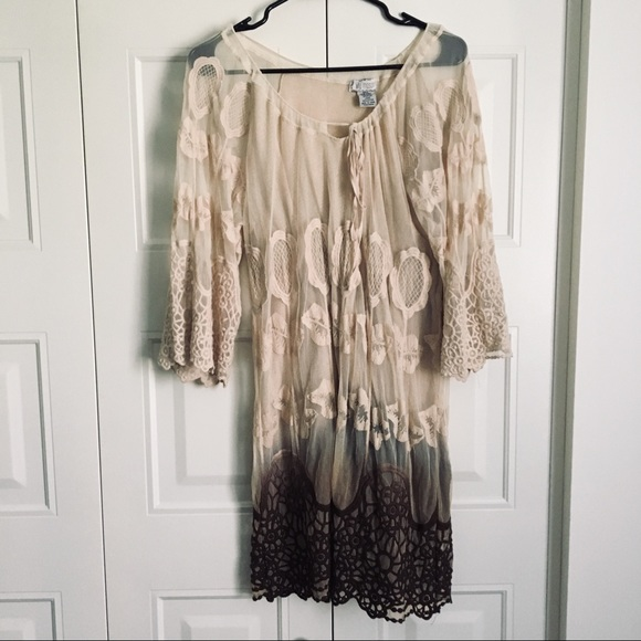 Lilly Mason Dresses & Skirts - 5/$25 Sheer Embroidered Dress